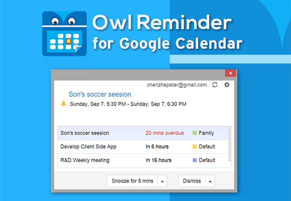 Push Notification in Owl Reminder!